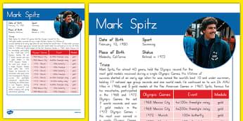 USA Olympians Mark Spitz Fact File