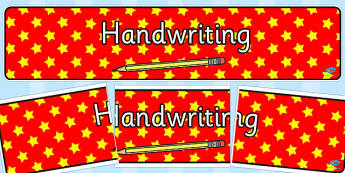 Handwriting Display Banner - handwriting, display banner, display