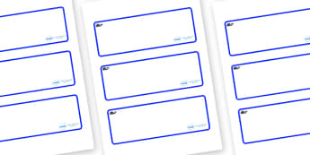 Blue Whale Themed Editable Drawer-Peg-Name Labels (Blank) - Themed Classroom Label Templates, Resource Labels, Name Labels, Editable Labels, Drawer Labels, Coat Peg Labels, Peg Label, KS1 Labels, Foundation Labels, Foundation Stage Labels, Teaching L