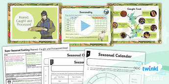 PlanIt - D&T UKS2 - Super Seasonal Cooking Lesson 2: Reared Caught and Processed Food Lesson Pack