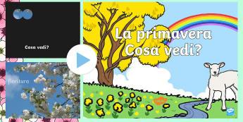 La Primavera, Cosa Vedi? Presentazione Powerpoint - la, primavera, cosa, vedi, esercizio, gioco, presentazione, powerpoint, agnello, fiori, italiano, it