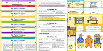 EYFS Lesson Plan Enhancement Ideas and Resources Pack to Support Teaching on Mr Wolf's Pancakes - Early Years, continuous provision, early years planning, adult led, Mr Wolf's Pancakes, Jan Fearnley, Pancake Day, Shrove Tuesday