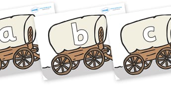Phoneme Set on Wagons - Phoneme set, phonemes, phoneme, Letters and Sounds, DfES, display, Phase 1, Phase 2, Phase 3, Phase 5, Foundation, Literacy