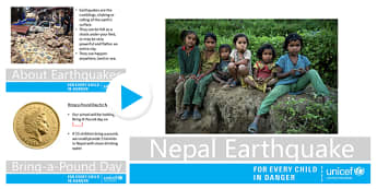 Nepal Earthquake Unicef UK Primary School Assembly - unicef