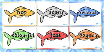 Vocabulary on Fish - vocabulary, fish, words, topic, display