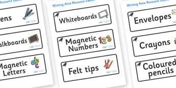 Raven Themed Editable Writing Area Resource Labels - Themed writing resource labels, literacy area labels, writing area resources, Label template, Resource Label, Name Labels, Editable Labels, Drawer Labels, KS1 Labels, Foundation Labels, Foundation