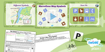 PlanIt - Geography Year 1 - Our School Lesson 6: Marvellous Map Symbols Lesson Pack