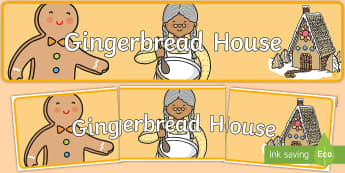 Design Your Own Gingerbread House Display Banner - Design Your Own Gingerbread House - ginger bread, design, art