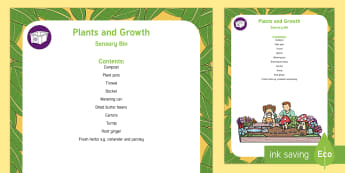 Plants and Growth Sensory Bin - flowers, plants, sensory play, sensory tray, planting, gardening