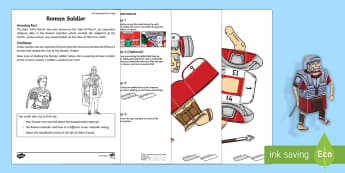 Roman Soldier Activity Sheet - Amazing Fact Of The Day, activity sheets, powerpoint, starter, morning activity, March, Julius Ceasa