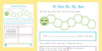My Name NZ  Back to School Activity Sheet