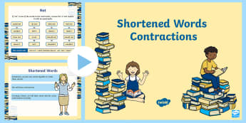 Shortened Words PowerPoint - ROI, Shortened words, contractions, grammar, apostrophe, punctuation, spag, SPaG, shortening, spelli
