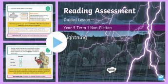 Year 5 Reading Assessment Non-Fiction Term 1 Guided Lesson PowerPoint - Year 3, Year 4 & Year 5 Reading Assessment Guided Lesson PowerPoints, KS2, reading, read, assessment