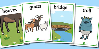 The Three Billy Goats Gruff Display Posters - display, posters