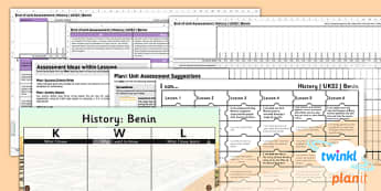 PlanIt - History UKS2 - Benin Unit Assessment Pack - benin, planit, assessment, unit, ks2, history, 2014, planning