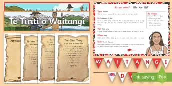 Waitangi Day Display Pack - Waitangi Day, Treaty of Waitangi,treaty, agreement