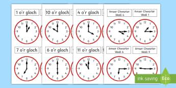 Taflenni Clociau Analog - Amser, Cyfnod Allweddol 2, CA2, Cyfnod Sylfaen, Mathemateg, time, amser, rhifedd, numeracy, dyddiol,