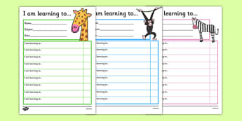Jungle Themed Target and Achievement Sheets - jungle, target and achievement, target, achievement, sheets