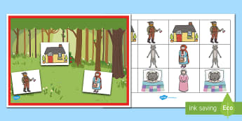 Little Red Riding Hood Barrier Game - Barrier Games, Little red riding hood, traditional tales, speaking and listening, listening skills