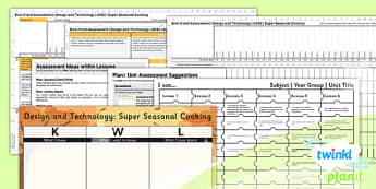 PlanIt - Design and Technology UKS2 - Super Seasonal Cooking Unit Assessment Pack - planit, assessment, pack