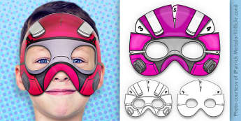 3D Robot Superhero Mask Printable - 3d, robot, superhero, mask, craft