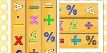 Maths Themed Display Borders - maths, numeracy, numbers, counting, Maths, Math, Foundation Numeracy, display border, classroom border, border
