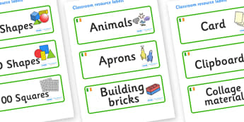 Ireland Themed Editable Classroom Resource Labels - Themed Label template, Resource Label, Name Labels, Editable Labels, Drawer Labels, KS1 Labels, Foundation Labels, Foundation Stage Labels, Teaching Labels, Resource Labels, Tray Labels, Printable l