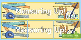 Measuring Up Display Banner - measures, maths, display banner, notice board, display,Irish