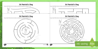 St. Patrick's Maze Activity Sheet - NI St. Patrick's Day Resources KS2, maze activities, northern ireland, ulster curriculum,