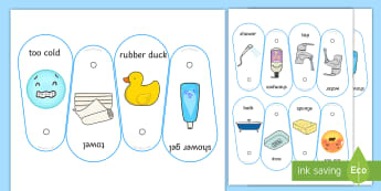 Bath Time Communication Fan - communication, bath, shower, visual support, visual aid, PECS, core board