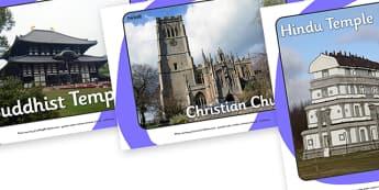 Religious Buildings Display Photos - Religion, faith, church, temple, synagogue, mosque, muslim, islam, RE, christian, Jesus, worship