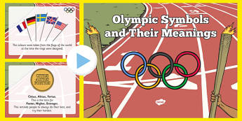 The Olympic Symbols and Their Meanings PowerPoint - the olympics, symbols, meanings, powerpoint