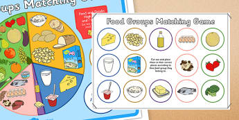 Food Groups Matching Game - food, food groups, matching, match