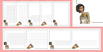 Cleopatra Page Border Pack - cleopatra, history, pages, borders, egypt, ancient egypt, ancient civilisation,