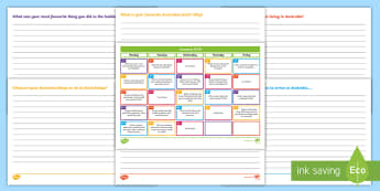 January 2018 Writing Prompts Display Calendar - tasks, warm-up, morning, activity, PSHE, starter, creative
