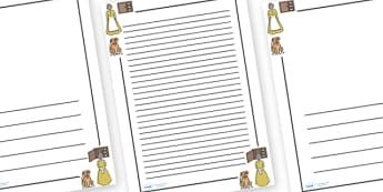 Old Mother Hubbard Page Border - Old Mother Hubbard, nursery rhyme, Literacy, writing, page border, a4 border, template, writing aid, writing border, page template, rhyme, rhyming, nursery rhyme story, nursery rhymes, Old Mother Hubbard resources