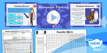 PlanIt - Science Year 6 - Scientists and Inventors Lesson 4: Alexander Fleming Lesson Pack - Alexander Fleming, penicillin, microorganisms, antibiotics, bacteria, scatter graph