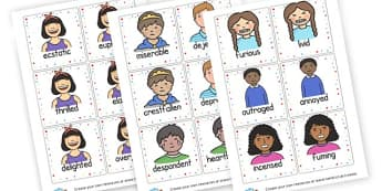 Describing Feelings Word Cards - My Emotions Labels Primary Resources, education, home school