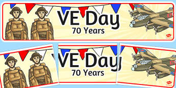 VE Day 70 Years Display Banner - ve day, 70 years, world war 2