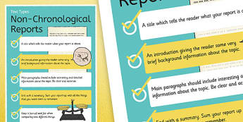 Text Types Guide Non-Chronological Report Display Poster - non chronological reports, non-chonological reports, reports, reports display poster