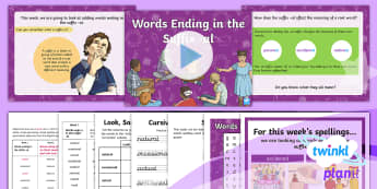 PlanIt Spelling Year 3 Term 3B W1: Words Ending in the Suffix  -al Spelling Pack - Spellings, Year 3, Term 3B, suffixes, word endings, al, adjectives, spelling patterns