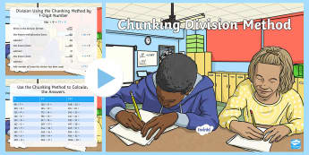 Chunking Division Differentiated Resource Pack - divide numbers up to 4 digits by a two-digit whole number using the formal written method of long di