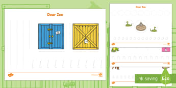 Pencil Control Activity Sheets to Support Teaching on Dear Zoo - EYFS, Early Years, Dear Zoo, Rod Campbell, animals, letter to the zoo, zoo, PD, Physical Development