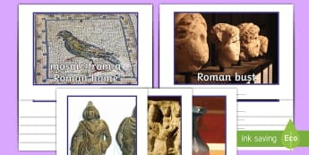 Roman Artefacts Display Photos - Roman, artefacts, photos, The Roman Empire and its impact on Britain, metal, bronze, iron, clay, mos