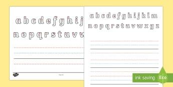 Name Writing Activity Sheet - australia, name writing, name, writing, write, letter formation, letter, activity, Australia