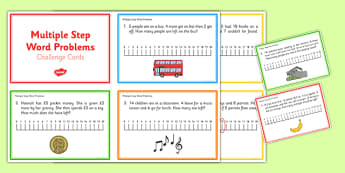 Multiple Step Word Problems -