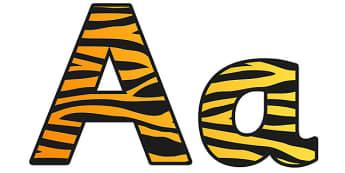 Tiger Pattern Display Lettering - safari, safari lettering, safari display lettering, tiger lettering, tiger pattern lettering, tiger pattern, tiger skin