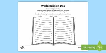 KS2 World Religion Day (15th Jan) Compare Religious Books Activity Sheet - KS2 World Religion Day, religious books, holy books, scripture, Torah, Guru Granth Sahib, Bible, Ved, holy book, holy books