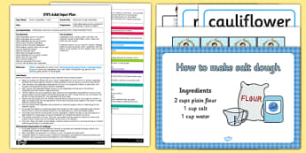 EYFS Making Salt Dough Vegetables Adult Input Plan and Resource Pack