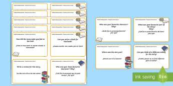 Guided Reading Question Cards English/Spanish - Guided Reading Question Cards - guided reading question cards, question, cards, guided reading, read